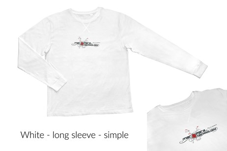 Male T-Shirt Long - White