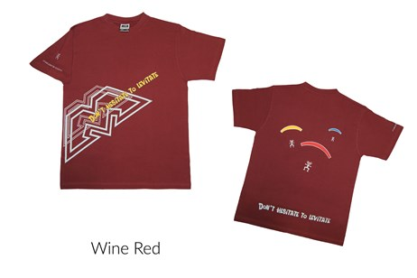 Male T-Shirt - Wine Red