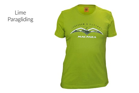 T-Shirt - Lime - Paragliding